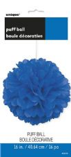 Puff Ball Decoration In Blue